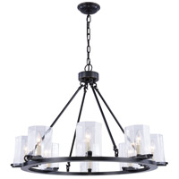 Monterey 8 Light 33 inch Bronze Chandelier Ceiling Light, Urban Classic, Clear Glass
