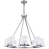 Monterey 8 Light 33 inch Polished Nickel Chandelier Ceiling Light, Urban Classic, Clear Glass