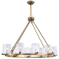 Monterey 8 Light 20 inch Burnished Brass Chandelier Ceiling Light, Urban Classic, Clear Glass