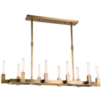 Corsica 10 Light 14 inch Burnished Brass Chandelier Ceiling Light, Urban Classic
