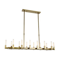 Corsica 14 Light 14 inch Burnished Brass Chandelier Ceiling Light, Urban Classic
