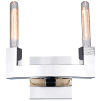 Corsica 2 Light 12 inch Polished Nickel Vanity Wall Light, Urban Classic