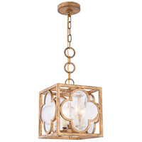 Trinity 4 Light 10 inch Golden Iron Pendant Ceiling Light, Urban Classic