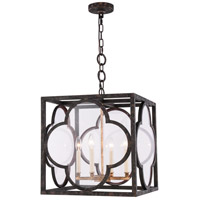 Trinity 4 Light 18 inch Aged Copper Pendant Ceiling Light, Urban Classic