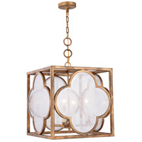 Trinity 4 Light 18 inch Golden Iron Pendant Ceiling Light, Urban Classic