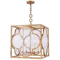 Trinity 4 Light 22 inch Golden Iron Pendant Ceiling Light, Urban Classic