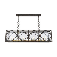 Trinity 8 Light 14 inch Aged Copper and Golden Iron Chandelier Ceiling Light, Urban Classic