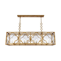 Trinity 8 Light 14 inch Golden Iron Chandelier Ceiling Light, Urban Classic