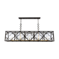 Trinity 10 Light 14 inch Aged Copper and Golden Iron Chandelier Ceiling Light, Urban Classic
