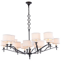 Segovia 15 Light 52 inch Bronze Chandelier Ceiling Light, Urban Classic, Off-White Linen