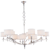 Segovia 15 Light 52 inch Polished Nickel Chandelier Ceiling Light, Urban Classic, Off-White Linen