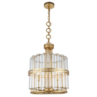Piper 3 Light 18 inch Antique Gold Leaf Pendant Ceiling Light, Urban Classic