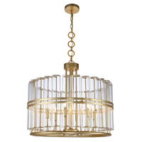 Piper 6 Light 26 inch Antique Gold Leaf Chandelier Ceiling Light, Urban Classic