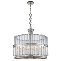 Piper 6 Light 26 inch Antique Silver Leaf Chandelier Ceiling Light, Urban Classic