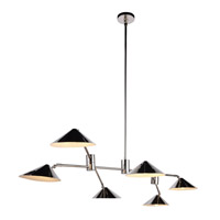 Berkley 6 Light 71 inch Polished Nickel Chandelier Ceiling Light, Urban Classic