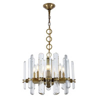 Elegant Lighting 1530D20BB/RC Lincoln 8 Light 20 inch Burnished Brass Chandelier Ceiling Light Urban Classic