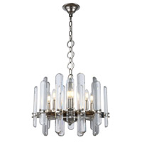 Elegant Lighting 1530D20PN/RC Lincoln 8 Light 20 inch polished Nickel Chandelier Ceiling Light Urban Classic