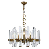 Elegant Lighting 1530D25BB/RC Lincoln 10 Light 25 inch Burnished Brass Chandelier Ceiling Light Urban Classic
