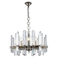 Elegant Lighting 1530D25PN/RC Lincoln 10 Light 25 inch polished Nickel Chandelier Ceiling Light Urban Classic
