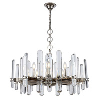 Elegant Lighting 1530D30PN/RC Lincoln 10 Light 30 inch Polished Nickel Chandelier Ceiling Light Urban Classic