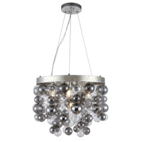 Isabel 4 Light 20 inch Antique Silver Leaf Chandelier Ceiling Light, Urban Classic