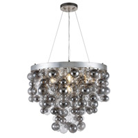 Elegant Lighting 1531D26ASL Isabel 7 Light 27 inch Antique Silver Leaf Chandelier Ceiling Light Urban Classic