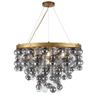 Elegant Lighting 1531D32AGL Isabel 7 Light 32 inch Antique Gold Leaf Chandelier Ceiling Light Urban Classic