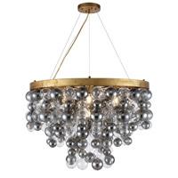 Elegant Lighting 1531D32AGL Isabel 7 Light 32 inch Antique Gold Leaf Chandelier Ceiling Light Urban Classic