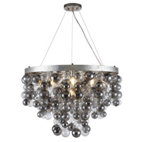 Isabel 7 Light 32 inch Antique Silver Leaf Chandelier Ceiling Light, Urban Classic