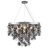 Elegant Lighting 1531D32ASL Isabel 7 Light 32 inch Antique Silver Leaf Chandelier Ceiling Light, Urban Classic