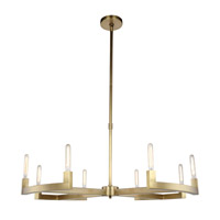 Corsica 8 Light 48 inch Burnished Brass Chandelier Ceiling Light, Urban Classic