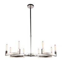 Corsica 8 Light 48 inch Polished Nickel Chandelier Ceiling Light, Urban Classic