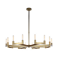 Corsica 16 Light 60 inch Burnished Brass Chandelier Ceiling Light, Urban Classic