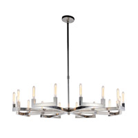 Corsica 16 Light 60 inch Polished Nickel Chandelier Ceiling Light, Urban Classic