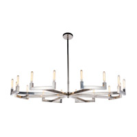 Corsica 16 Light 72 inch Polished Nickel Chandelier Ceiling Light, Urban Classic
