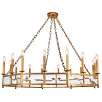 Elegant Lighting 1537G49GI Exeter 16 Light 49 inch Golden Iron Chandelier Ceiling Light, Urban Classic