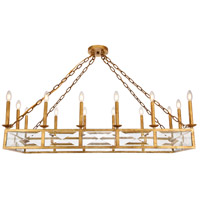 Elegant Lighting 1538G46GI Exeter 14 Light 20 inch Golden Iron Chandelier Ceiling Light Urban Classic