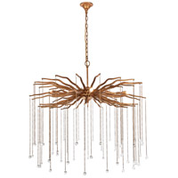 Elegant Lighting 1539D36DAG Willow 6 Light 36 inch Drizzled Antique Gold Chandelier Ceiling Light, Urban Classic