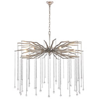Elegant Lighting 1539D36DAS Willow 6 Light 36 inch Drizzled Antique Sliver Chandelier Ceiling Light, Urban Classic