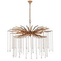 Elegant Lighting 1539G42DAG Willow 7 Light 42 inch Drizzled Antique Gold Chandelier Ceiling Light, Urban Classic