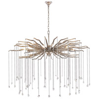 Elegant Lighting 1539G42DAS Willow 7 Light 42 inch Drizzled Antique Sliver Chandelier Ceiling Light, Urban Classic