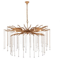 Elegant Lighting 1539G48DAG Willow 8 Light 48 inch Drizzled Antique Gold Chandelier Ceiling Light, Urban Classic