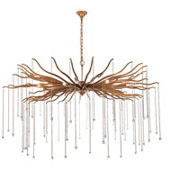 Elegant Lighting 1539G60DAG Willow 8 Light 60 inch Drizzled Antique Gold Chandelier Ceiling Light, Urban Classic