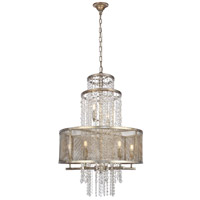 Elegant Lighting 1540D24ASL Legacy 8 Light 24 inch Antique Sliver Leaf Chandelier Ceiling Light Urban Classic