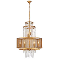 Elegant Lighting 1540D24GI Legacy 8 Light 24 inch Golden Iron Chandelier Ceiling Light Urban Classic