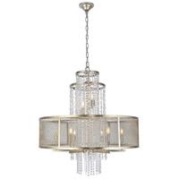 Elegant Lighting 1540D32ASL Legacy 8 Light 32 inch Antique Sliver Leaf Chandelier Ceiling Light Urban Classic