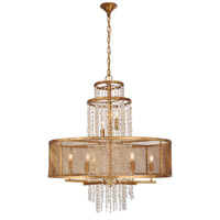 Elegant Lighting 1540D32GI Legacy 8 Light 32 inch Golden Iron Chandelier Ceiling Light Urban Classic