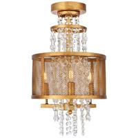 Elegant Lighting 1540F12GI Legacy 3 Light 12 inch Golden Iron Flush Mount Ceiling Light Urban Classic
