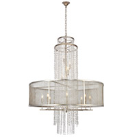 Elegant Lighting 1540G42ASL Legacy 12 Light 42 inch Antique Sliver Leaf Chandelier Ceiling Light Urban Classic