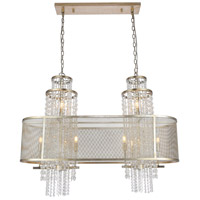 Elegant Lighting 1540G45ASL Legacy 10 Light 16 inch Antique Sliver Leaf Chandelier Ceiling Light Urban Classic